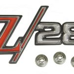 This is an image of a GM Licensed 1969 Camaro Z28 Fender Emblem
