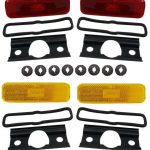 This is an image of a 1970-73 Camaro Side Marker Light Kit, GM Licensed