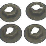 This is an image of a 1968 Camaro Side Marker Lens Nut Set