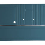 This is an image of a pair of 1967 Camaro pre-assembled front door panels in light blue.
