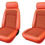 This is an image of a 1969 Camaro Houndstooth seat cover upholstery