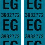 This is an image of a pair of 1968 Camaro SS 396 Front Coil Spring Tag Tape Decal, EG