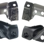 This is an image of a 1967-68 Camaro Rear Bumper Bracket Set, 4-piece, GM Licensed
