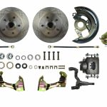 This is an image of a 1967-69 Camaro Disc Brake Conversion Kit with stock rotors and calipers