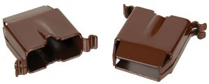This is an image of a pair of 1968 Camaro Or 1968-69 Firebird Dash Pad Dog Leg Clips