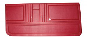 This is an image of a pair of 1967 Camaro front door panels in red.