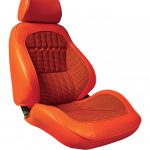 This is an image of a pair of 1969 Camaro Deluxe Houndstooth Touring II Front Bucket Seats