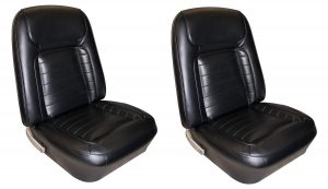 This is an image of a pair of 1968 Camaro Deluxe Front Bucket Seat Covers