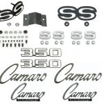 This is an image of a 1969 Camaro SS/RS 350 Emblem Kit made with gm licensed and show quality emblems