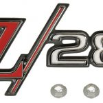 This is an image of a 1969 Camaro Z28 Rear Tailpan Emblem, Show Quality