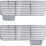 This is an image of 1967-68 Camaro Lower Valance Air Vent Covers, Billet Aluminum