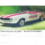 This is an image of a 1969 Camaro Pace Car LIFE Magazine Poster, Full Color Reprint