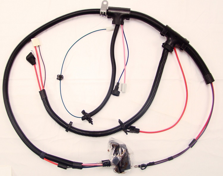 1980-81 camaro engine wiring harness, v6 229 (lc3)  midnight oil muscle car parts