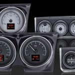 This is an image of a 1967 Camaro with console dakota digital HDX gauges