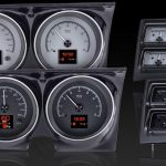 This is an image of a set of 1968 Camaro with Console gauges Dakota Digital hdx gauge cluster