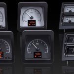 This is an image of a 1969 Camaro with console gauges dakota digital HDX gauge cluster