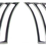 This is an image of a 1969 Camaro Quarter Panel Louver Moldings, GM Licensed