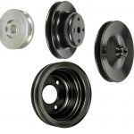 This is an image of a 1969-70 Camaro Big Block 396 375HP Deep Groove Pulley Kit