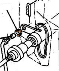 This is an image of a 1932-92 Chevrolet And GMC Transmission Linkage Grommet