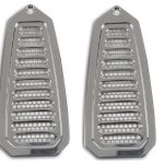 This is an image of a 1968-69 Camaro or firebird door jamb vents, billet aluminum highly polished