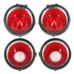 This is an image of a 1971 Late-73 Camaro Taillight & Back Up Lens Set, Standard, GM Licensed