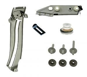 This is an image of a 1967-69 Camaro Or Firebird Quarter Window Track & Mount Set, Left