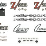 This is an image of a 1969 Camaro Rallysport Z28 With Cowl Hood Emblem Kit, Superior Quality