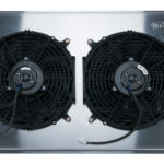 This is an image of a 1970-81 Camaro COLD CASE Aluminum Performance Radiator, Auto Trans With Fans