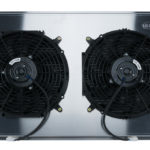 This is an image of a 1970-81 Firebird COLD CASE Aluminum Performance Radiator, Auto Trans With Fans