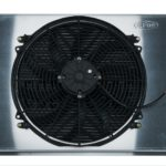 This is an image of a 1967-69 Camaro Or Firebird COLD CASE Aluminum Performance Radiator, Manual Trans With Fan