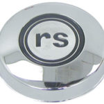 This is an image of a 1967 Camaro RS Chrome Steering Wheel Horn Cap, GM Licensed