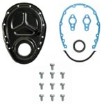 "This is an image of a 1969-70 Small Block Chevy Timing Chain Cover Kit For 8"" Harmonic Balancer"