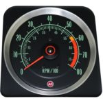 This is an image of a 1969 Camaro Z28 (Late) 8000 RPM Tachometer, GM Licensed