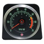 This is an image of a 1969 Camaro SS 396/325 & 350hp (5500 Redline) 7000 RPM Tachometer, GM Licensed