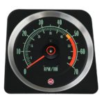 This is an image of a 1969 Camaro 307, 327 & SS 350 (5000 Redline) 7000 RPM Tachometer, GM Licensed