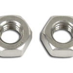 This is an image of a pair of 1967-81 Camaro & Firebird Park Brake Cable Adjusting Nuts