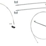 This is an image of a 1967-69 Camaro & Firebird Park Brake Cable Kit, Replacement