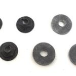 This is an image of a 1967-81 Camaro Or Firebird Heater Box To Firewall Mounting Nuts & Washers