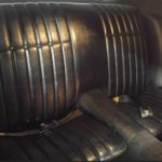 This is an image of a 1973 Camaro Standard Rear Seat Covers, Correct Grain