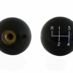 """This is an image of a 1969-81 Camaro Or Firebird Black Shifter Knob, 3/8"""" Coarse Thread"""