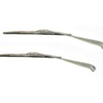 This is an image of a 1967-69 Camaro Or Firebird Convertible Windshield Wiper Arms & Blades Kit, Stainless
