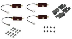 This is an image of a 1967 Camaro RS Headlight Limit Switch, Brackets & Hardware Set