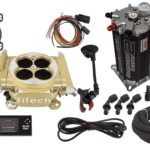 This is an image of a FiTech Easy Street EFI Master Kit w/ Fuel Command Center 2