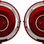 This is an image of a 1970-73 Camaro LED Tail Light Lenses, Pair, Direct Replacement