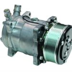 This is an image of a Vintage Air Sanden SD 508 Compressor Serpentine Pulley Standard Finish