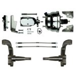 This is an image of a 1967-69 Camaro Or Firebird Front Disc Brake Conversion Kit Chrome With Wilwood Calipers