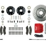 """This is an image of a 1967-69 Camaro Or Firebird Big Disc Brake Conversion Kit, 8"""" Chrome Booster, Stock Height"""
