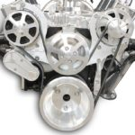 This is an image of a Eddie Motorsports S-Drive Serpentine Pulley Kit SB Chevy, Without Power Steering