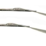 This is an image of a set of 1967-69 Camaro Or Firebird Coupe Windshield Wiper Arms & Blades Kit, Stainless