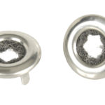 This is an image of a pair of 1968-75 Camaro Or Firebird Door Lock Ferrules, OE Style